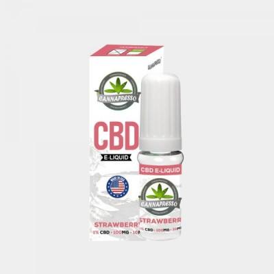 Cannapresso E-Liquid Strawberry CBD 1% 100mg – 10 ml
