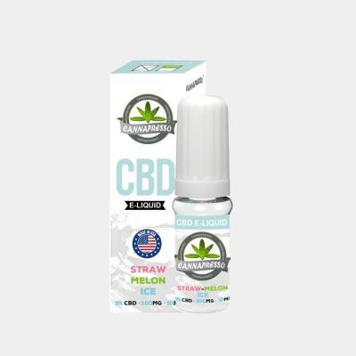 Cannapresso E-Liquid Straw-Melon Ice CBD 3% – 300 mg – 10 ml